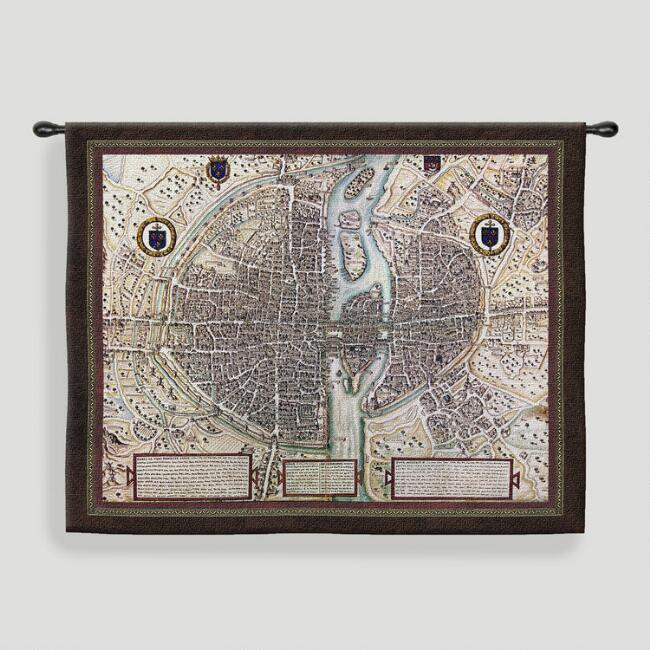 Map of paris tapestry wall hanging world market map of paris tapestry wall hanging gumiabroncs Gallery