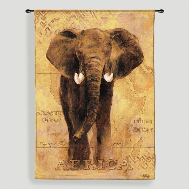 African Voyage l Tapestry Wall Hanging