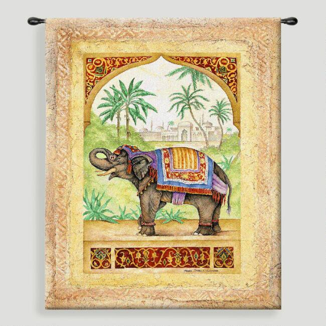 Old World Elephant ll Tapestry Wall Hanging