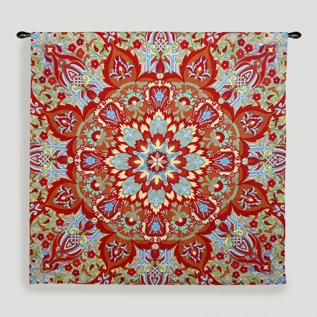Rangoli Sunrise Tapestry Wall Hanging