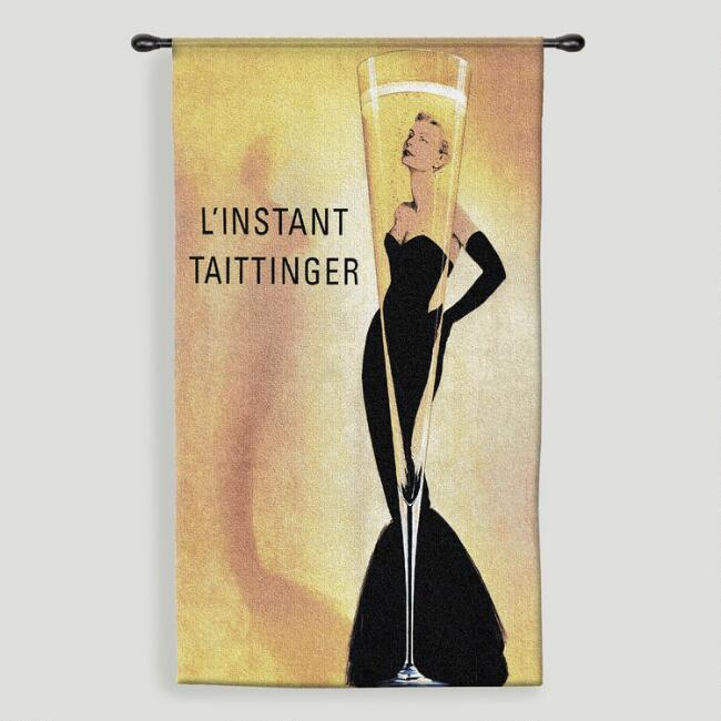 Taittinger Tapestry Wall Hanging