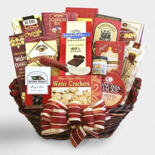 Gourmet gift baskets food gift baskets world market for the whole gang gift basket negle Choice Image