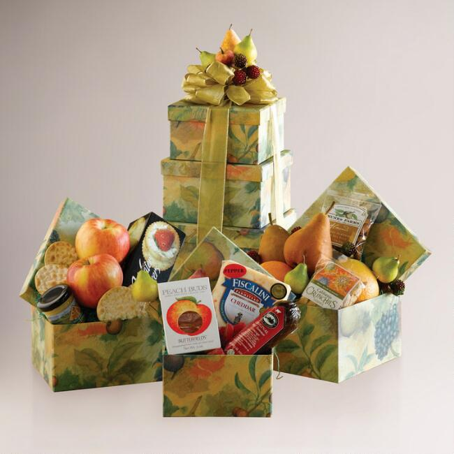 Harvest Fruit & Gourmet Gift Tower