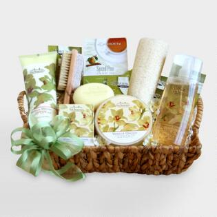 elegant orchid spa sensation gift basket - Bathroom Baskets