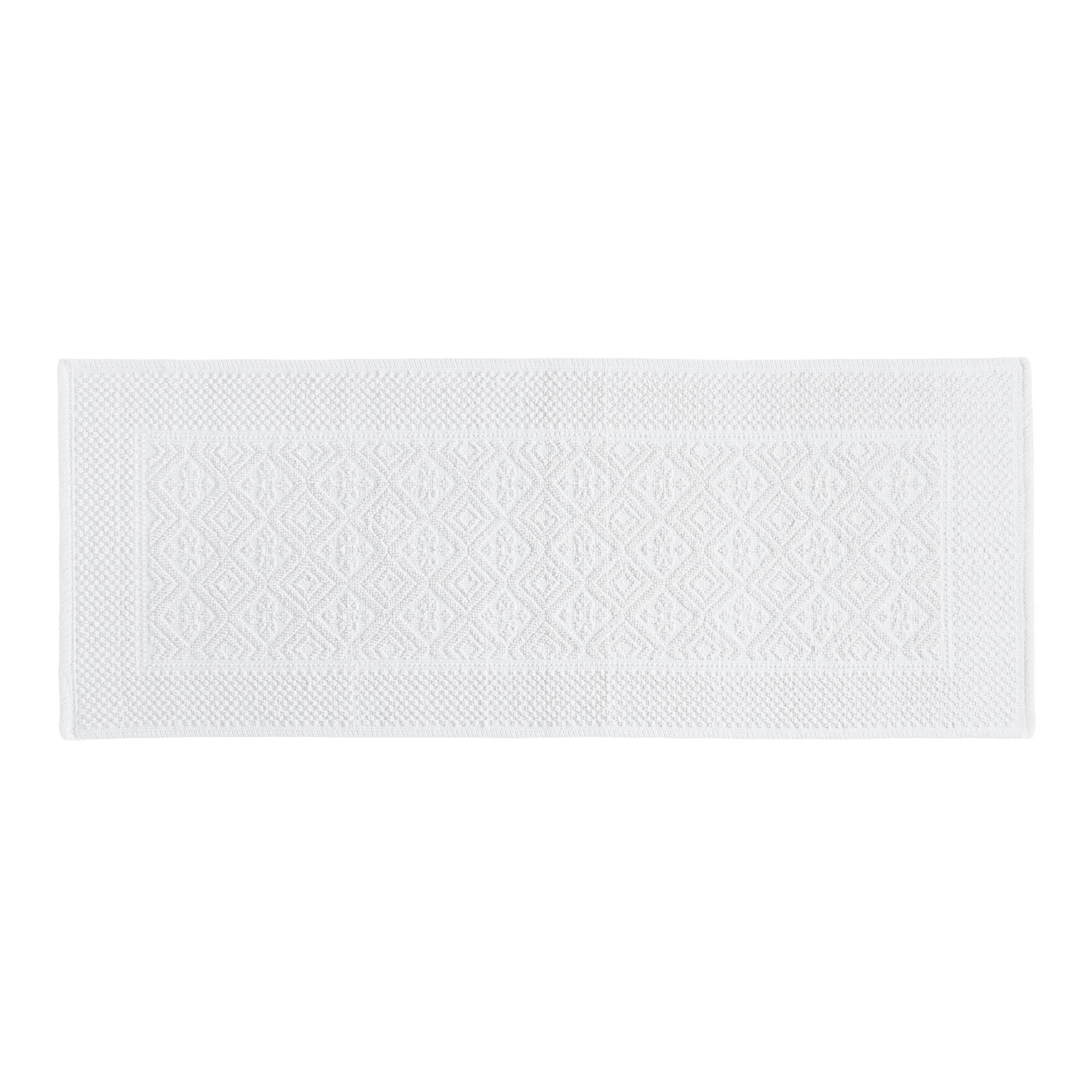 Very large bath rugs search - White Large Woven Bath Mat