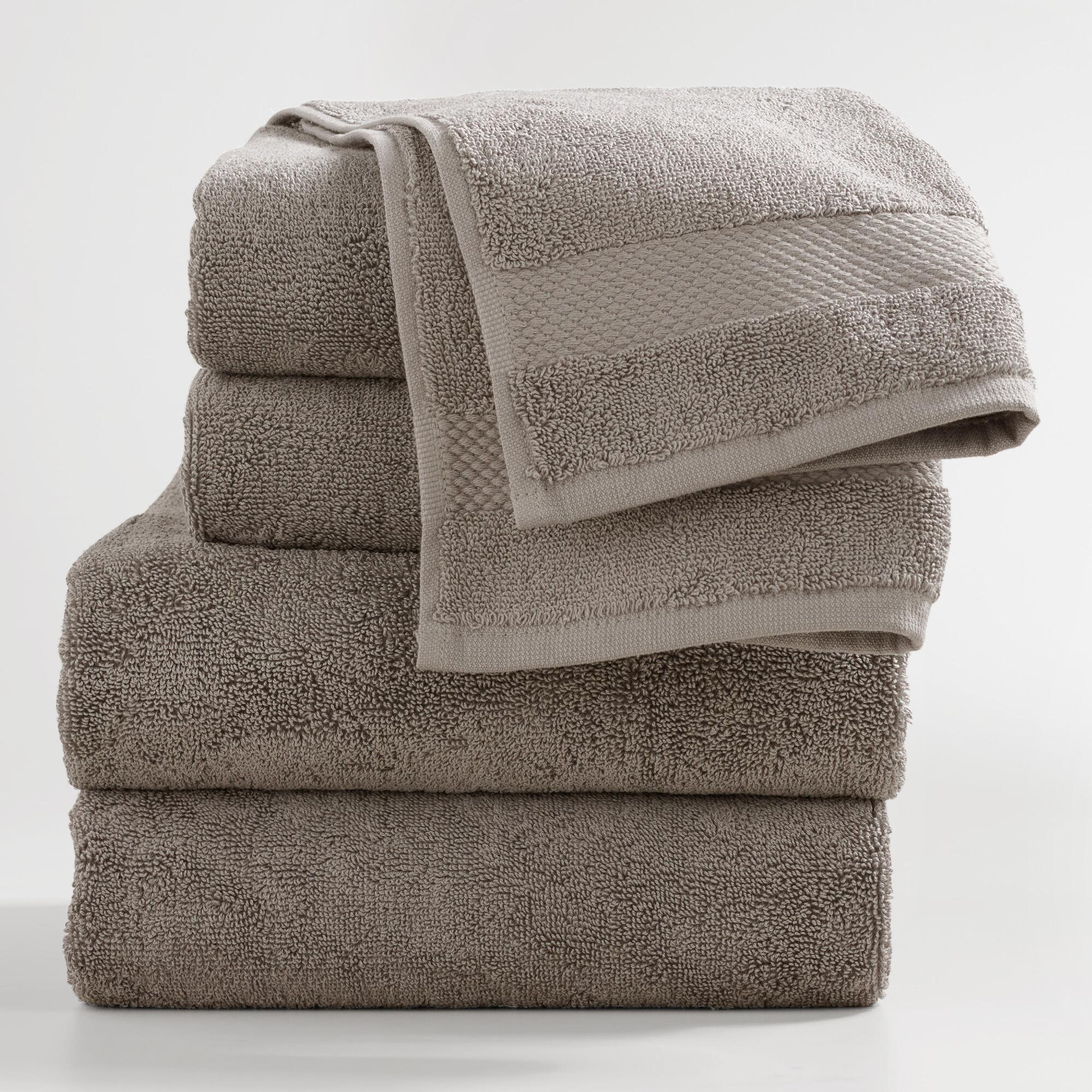 Frost Gray Bath Towel Collection by World Market