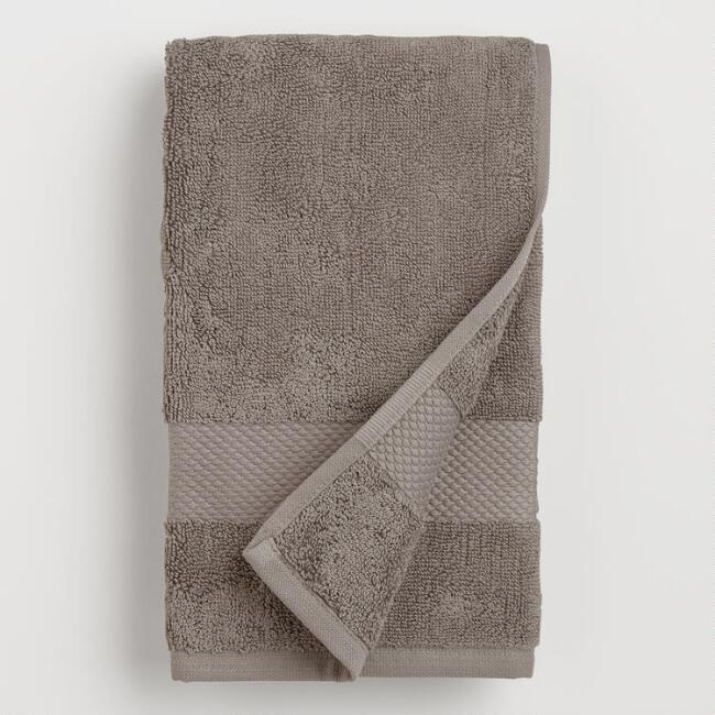 Frost Gray Cotton Hand Towel