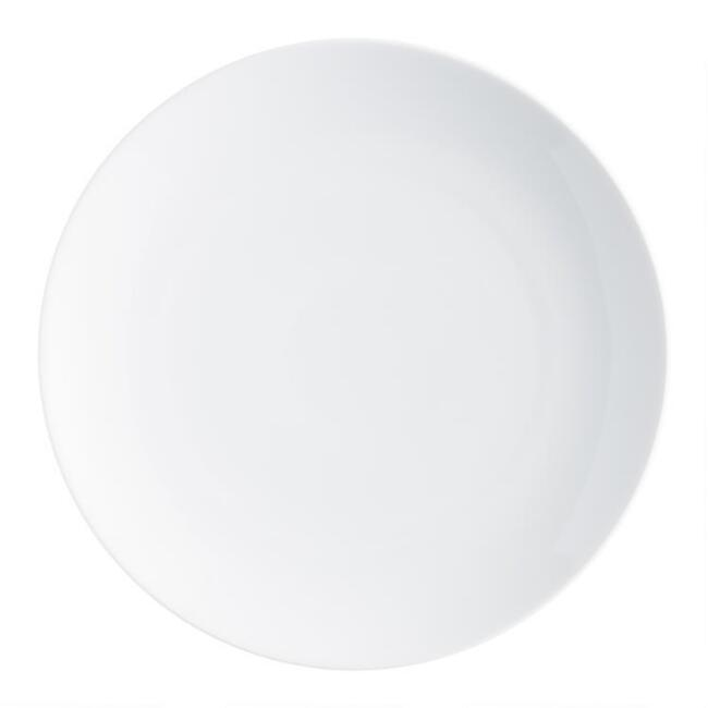 White Coupe Dinner Plates Set Of 4 World Market