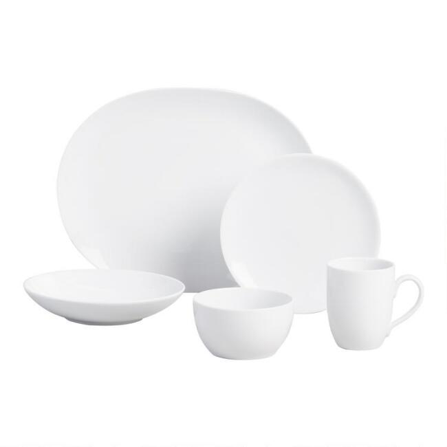 White Coupe Dinnerware