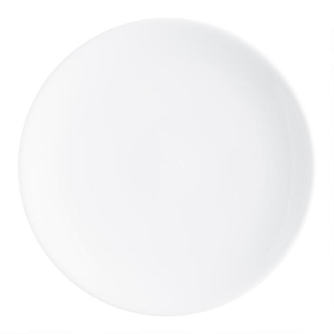 White Porcelain Coupe Salad Plates Set Of 4