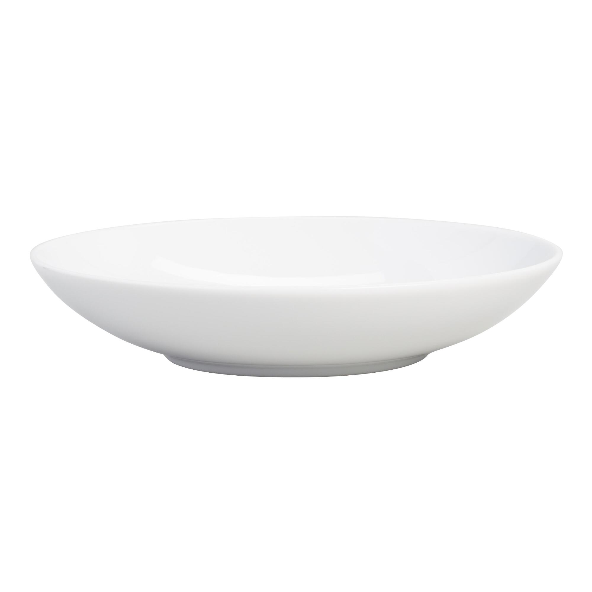 White Coupe Soup Bowls, set of 4 | World Market
