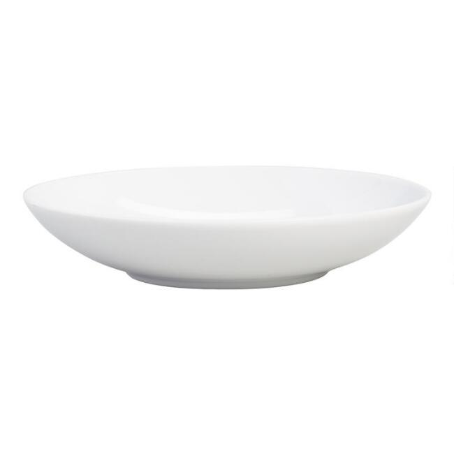 White Porcelain Coupe Soup Bowls Set Of 4