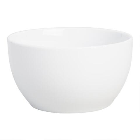White Coupe Cereal Bowls Set Of 4 World Market