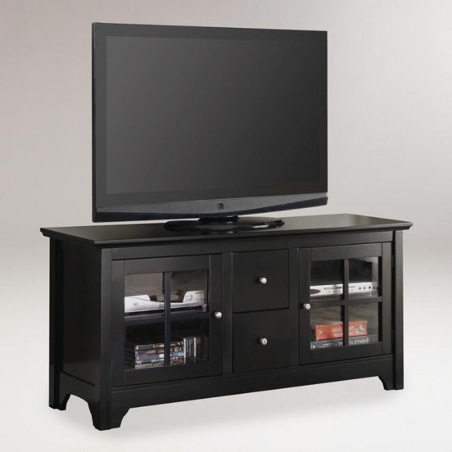 Black Wood Becket Storage Cabinet