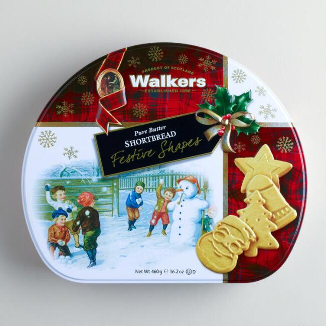 Walkers Festive Shapes Shortbread Tin