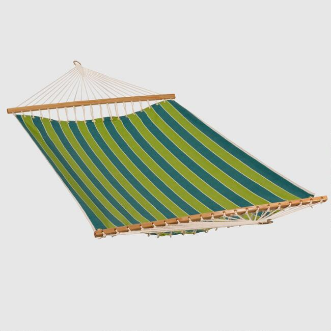 Green Stripe 2 Person 13' Fabric Hammock