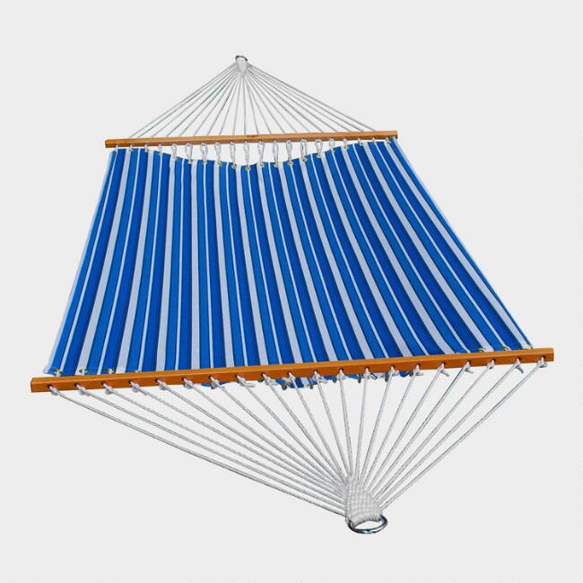 Blue Multi Stripe 2 Person 13' Fabric Hammock