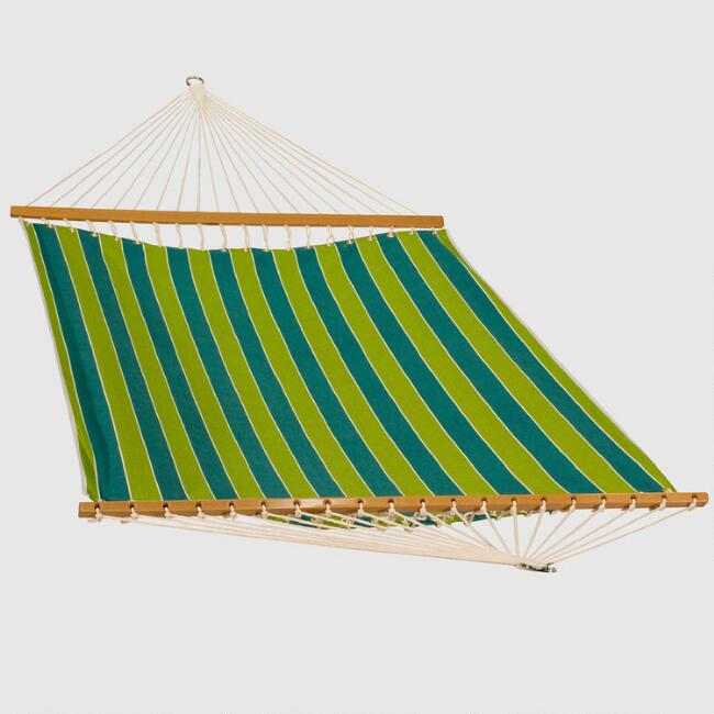Green Stripe 2 Person 11'  Fabric Hammock