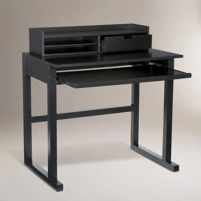 Black Lewis Computer Desk