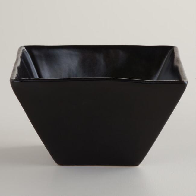 Black Trilogy Small Square Bowls, Set of 4