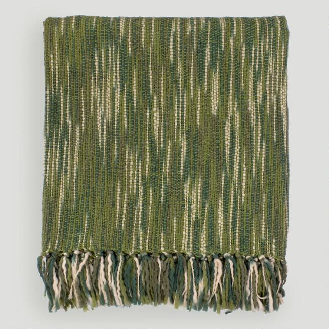 Green/Ivory Taryn Throw