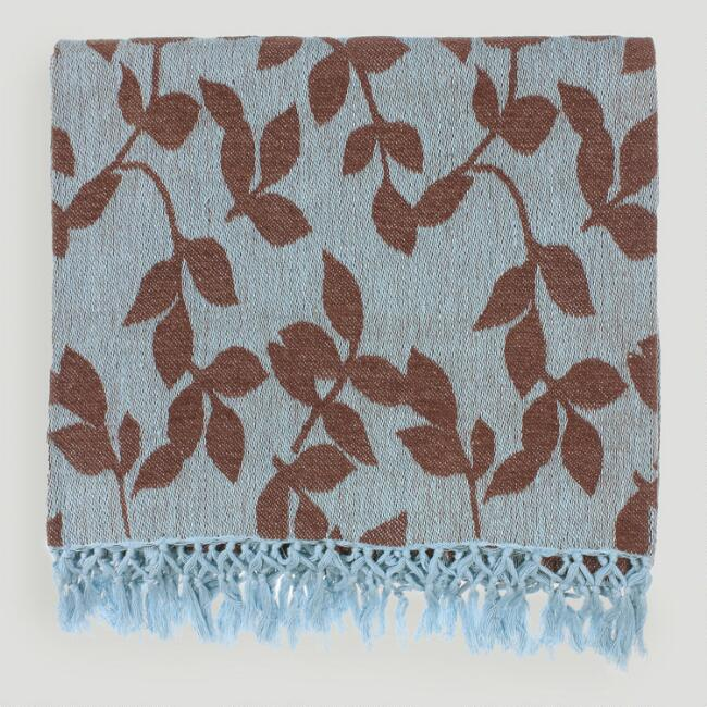 Sky Blue/Brown Tabitha Throw
