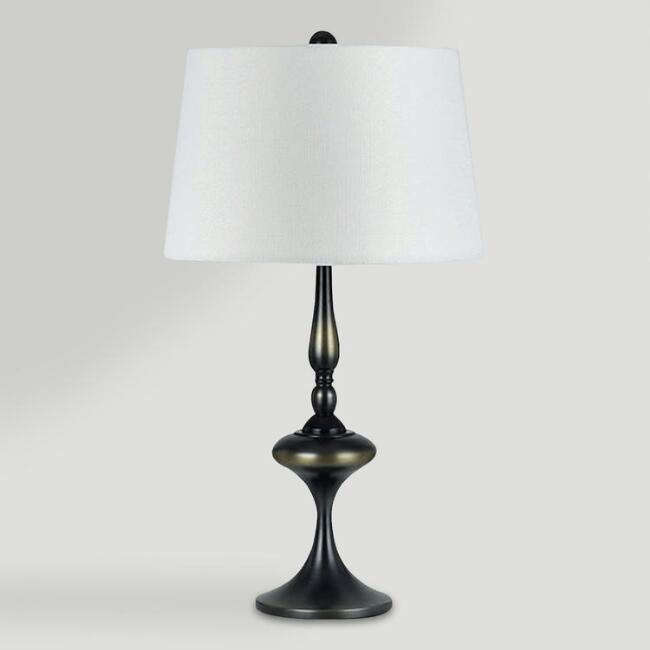 Belden Crystal Metal Table Lamp