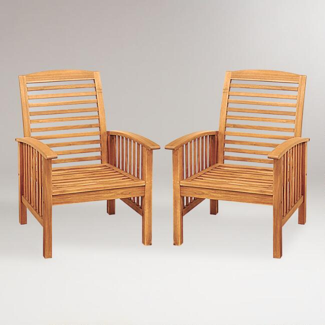 Hilo Outdoor Occasional Chairs, Set of 2