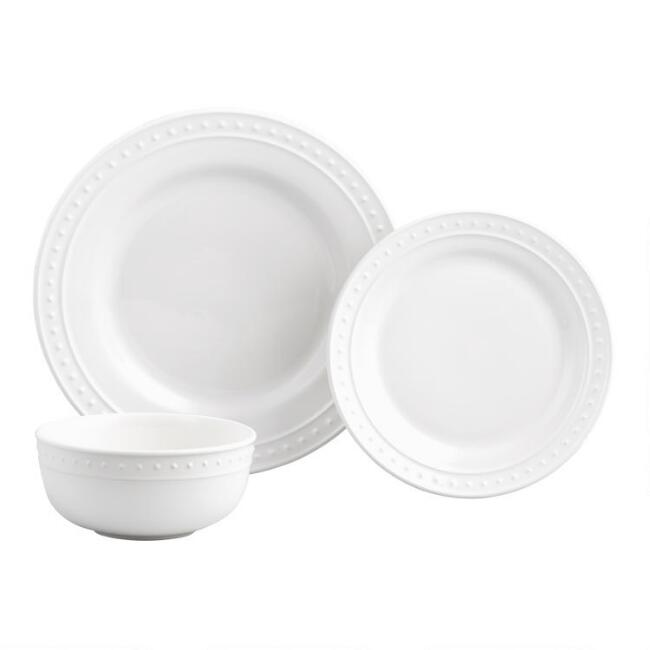 White Nantucket Dinnerware Collection