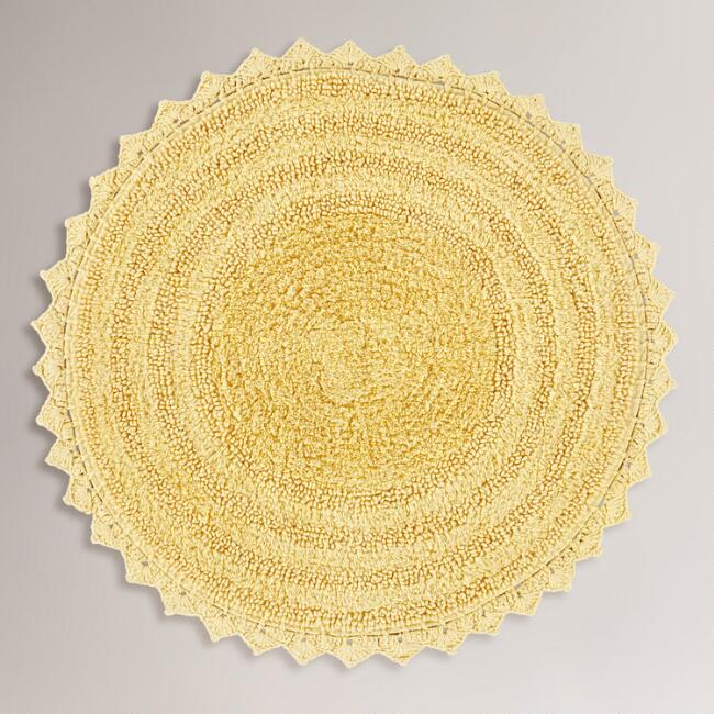 Yellow Round Bath Mat
