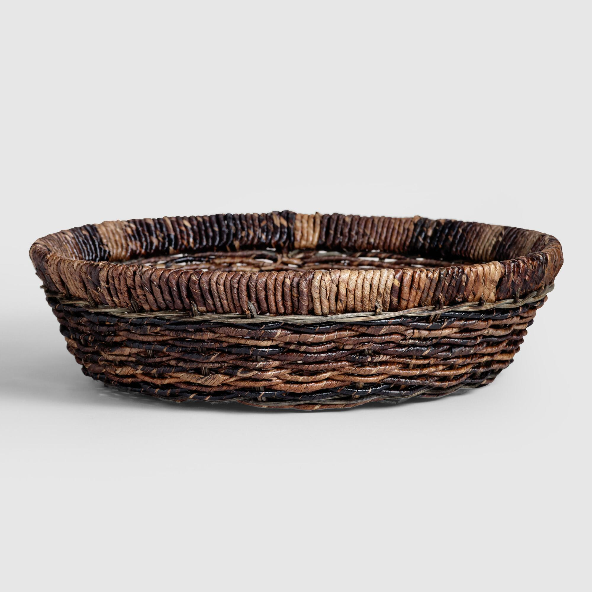 Madras Serving Bowl: Brown - Natural Fiber by World Market