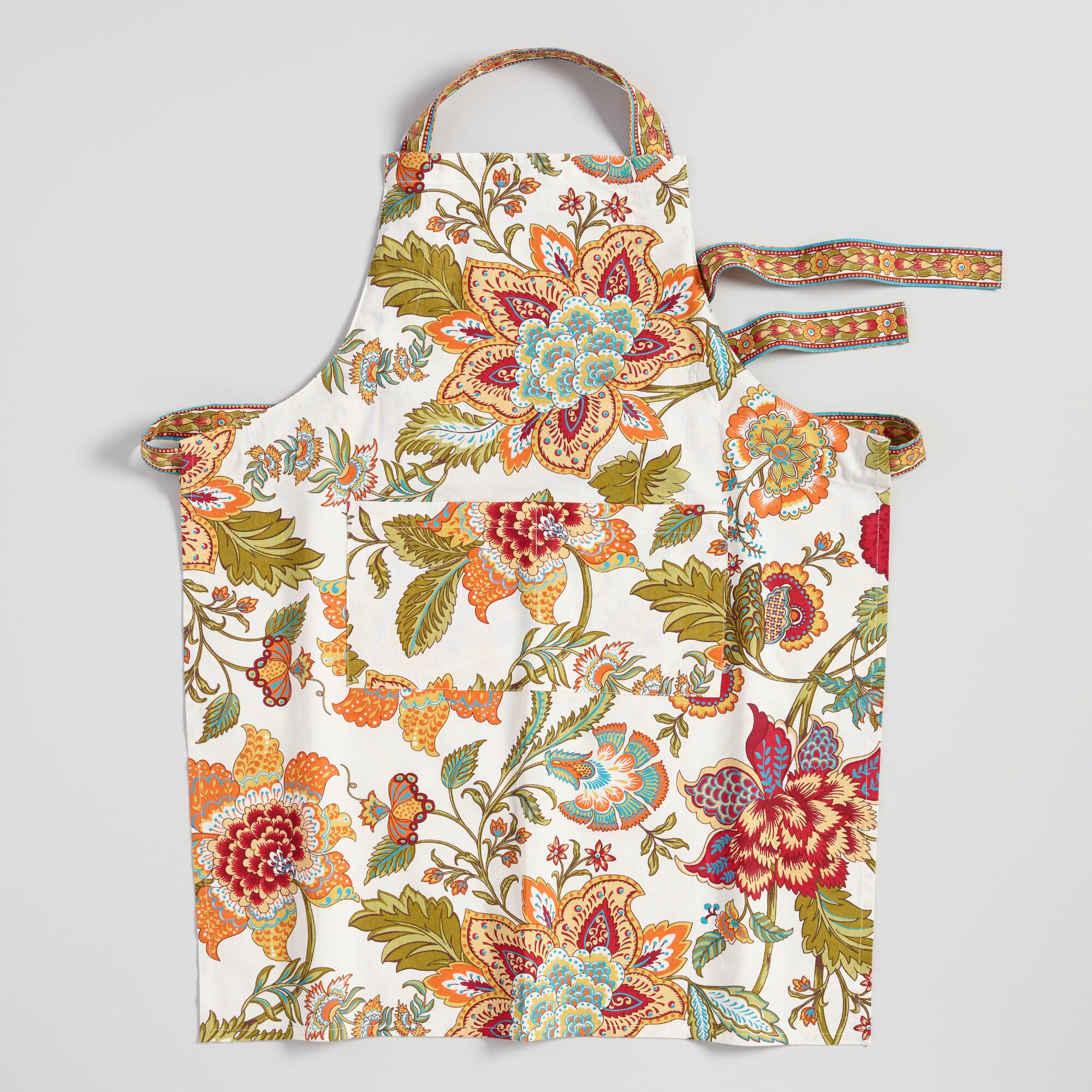 World Bazar: Cost Plus World Market Floral Kavita Apron