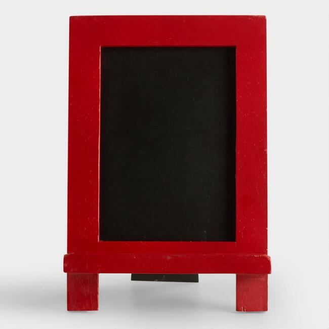 Red Mini Easel Chalkboard