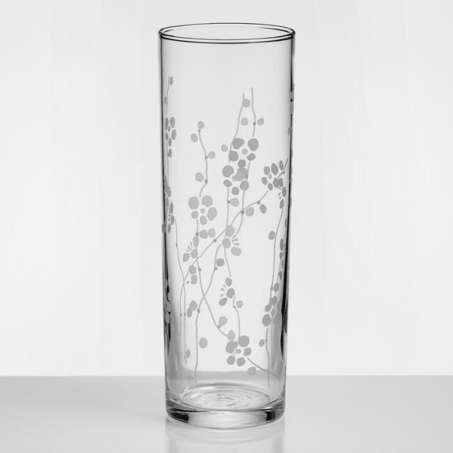 Plum Blossom Highball Glasses Set of 4
