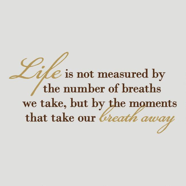 Life is Measured in Moments Vinyl Wall Decal
