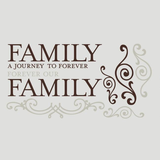 Family Journey Vinyl Wall Decal