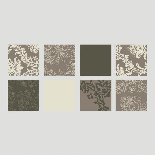 Metallic Tapestry Squares Vinyl Wall Decal