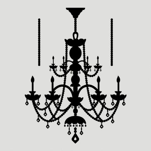 Rhinestone Chandelier Vinyl Wall Decal World Market