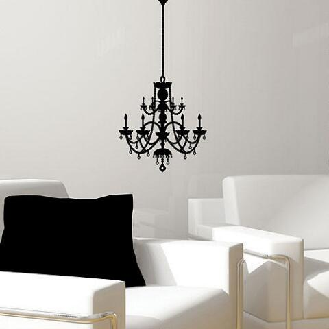 Rhinestone chandelier vinyl wall decal world market rhinestone chandelier vinyl wall decal previous v2 mozeypictures Images