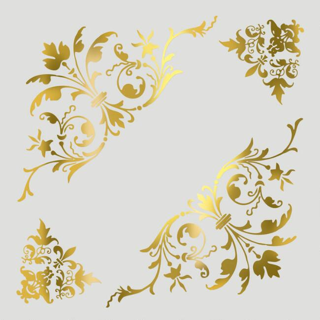 Antique Foil Scrolls Vinyl Wall Decal