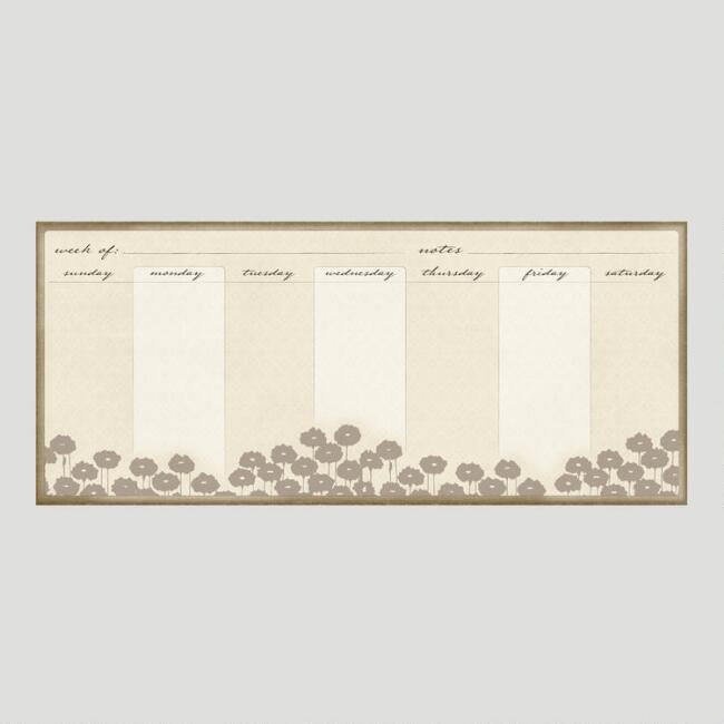 Dry Erase Poppies Calendar & Organizer Vinyl Wall Decal