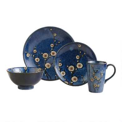 Blue Cherry Blossom Dinnerware Collection