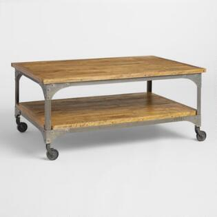 Wood and Metal Aiden Coffee Table. Coffee Tables   Affordable End Tables   World Market