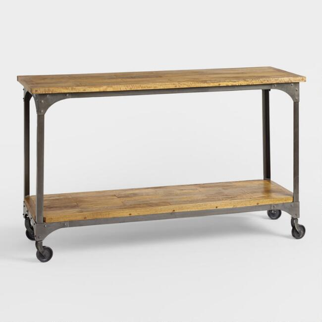 Wood And Metal Aiden Console Table World Market