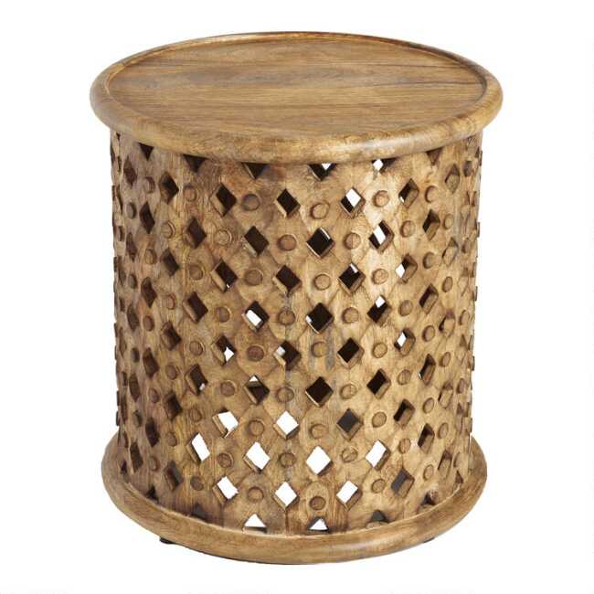 Enjoyable Tribal Carved Wood Accent Table Download Free Architecture Designs Scobabritishbridgeorg