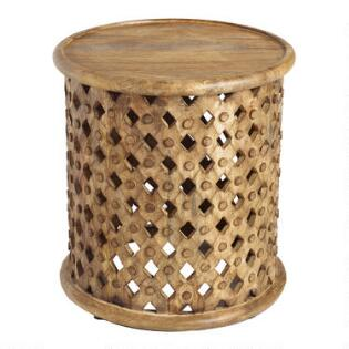 Coffee tables end tables accent tables world market tribal carved wood accent table gumiabroncs Gallery