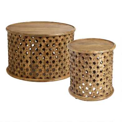 Lattice Carved Wood Furniture Collection
