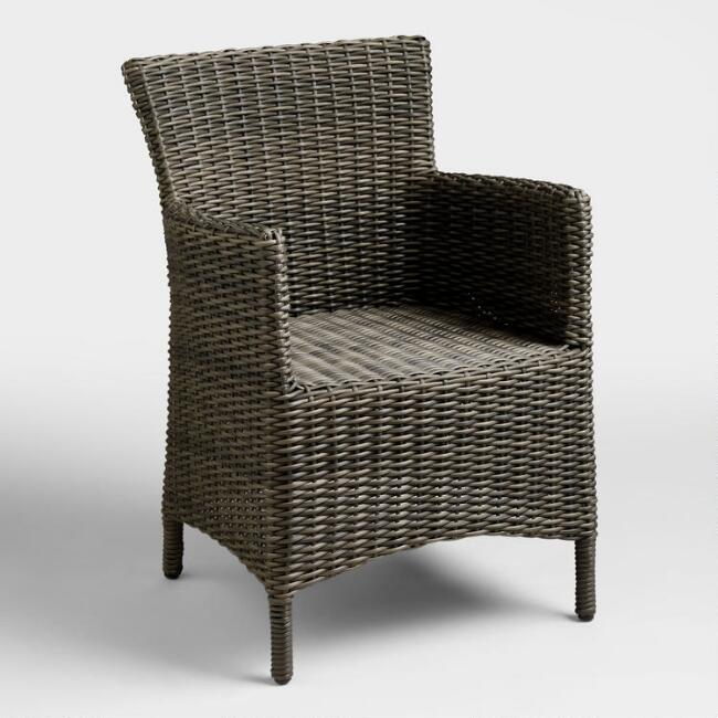 Gray All Weather Wicker Solano Outdoor Armchair