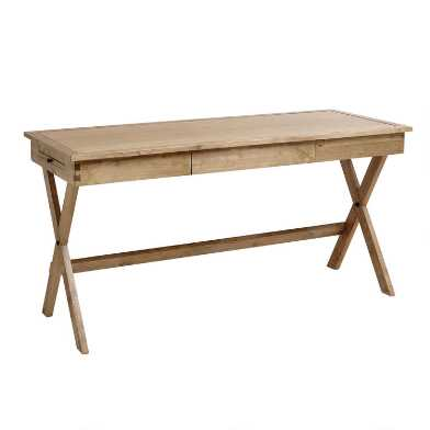 Natural Wood Campaign Desk