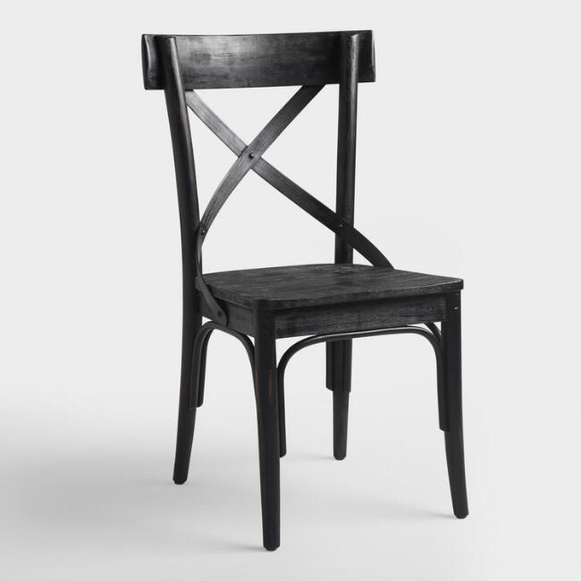 Black Bistro Side Chairs, Set of 2